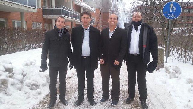 The four Israeli investors (left to right): Amir Weil, Aviad Scheibitz, Assaf Giller and Moti Shemtovi