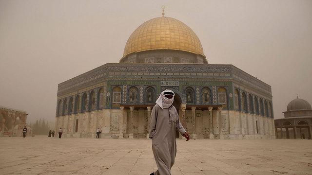 Jerusalem in haze (Photo: AFP)