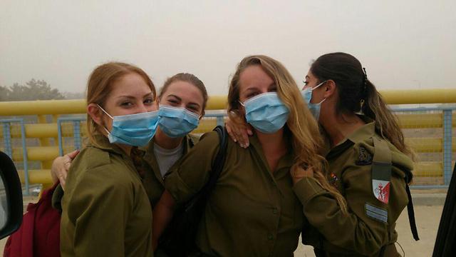 Soldiers on base in northern Israel (Photo: Yael Shavit)