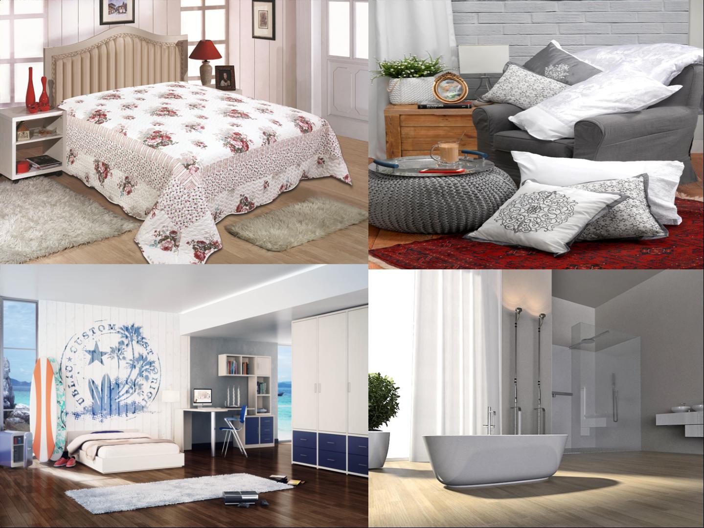 עיצוב בלבן של רשת הרמוניה לבית, באטיו, רהיטי דורון ו-H&O ()