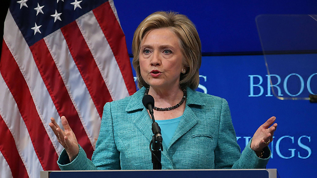 Hillary Clinton at the Brookings Institute Wednesday. (Photo: AFP)