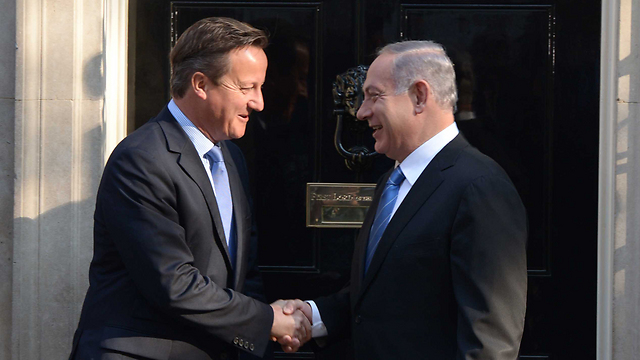 Cameron and Netanyahu meet at 10 Downing Street (Photo: Avi Ohayon, GPO)