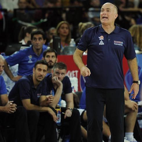 "ארז אדשלטיין. ""מגיע שאפו לקברניטי איגוד הכדורסל"" (צילום: AFP) (צילום: AFP)"