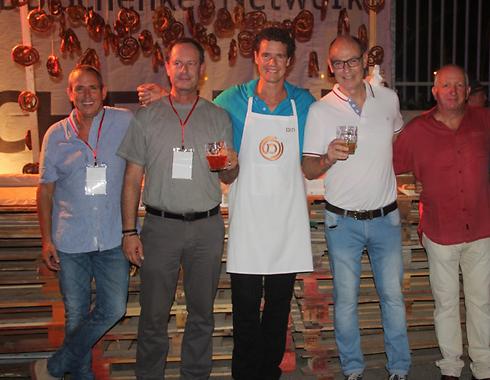 Orian CEO Chen Lamdan (far left) with Ofir Pines, Tom Franz, Gabriel Rotter, and Gadi Aviram (Photo: Lior Marciano)