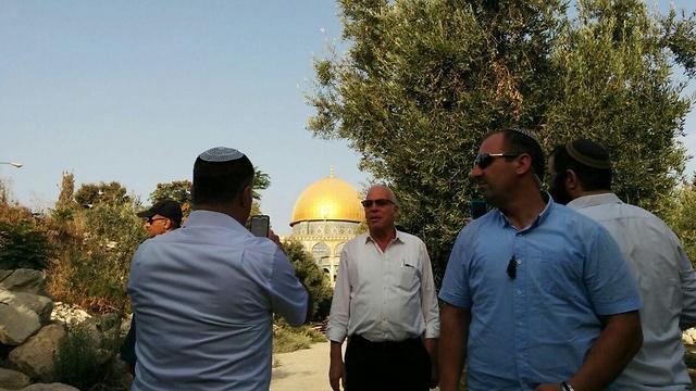 Minister Uri Ariel visiting Temple Mount