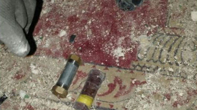 Pipe bombs found by Israeli police (Photo: Israeli Police spokesperson)
