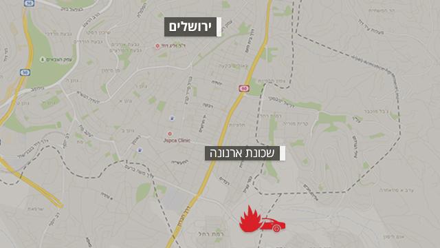 מפת האזור שבו אירעה התאונה ()
