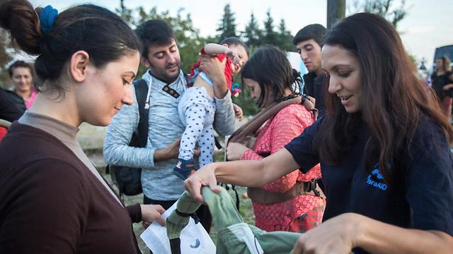 IsraAid volunteers in action (Photo: IsraAid)