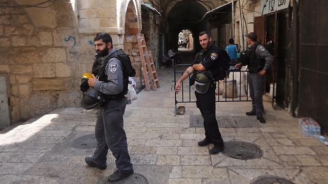 אבטחה כבדה בירושלים  (צילום: גיל יוחנן) (צילום: גיל יוחנן)