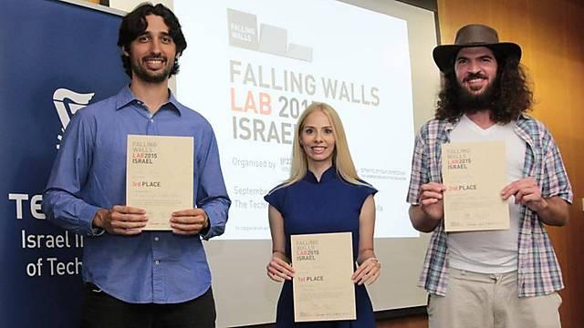 שלושת הזוכים במקומות הראשונים (צילום: דוברות הטכניון) (צילום: דוברות הטכניון)