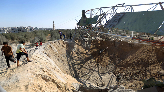 Damage in the Gaza Strip after IAF strike in repsonse to rocket fire (Photo: AFP)