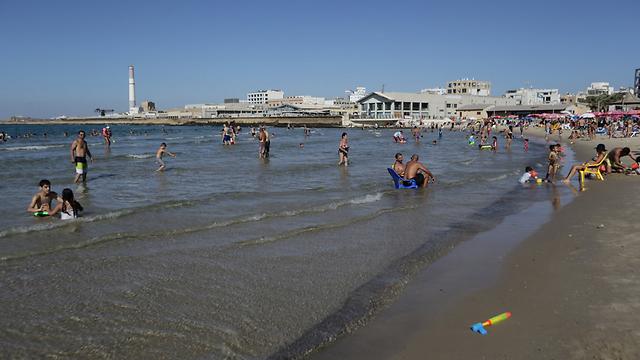 חוף מציצים בתל-אביב. המפלס יעלה? (צילום: ירון ברנר)