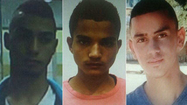 Three of the four suspects. (Photo: Shin Bet Spokesperson)