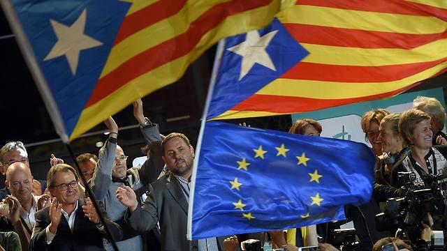 קטלוניה מהווה כמעט 20 אחוזים מהכלכלה הספרדית וגודלה בעוגה הולך וצומח (צילום: AFP)