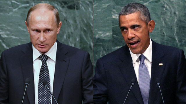 Obama and Putin trade barbs (Photo: EPA, Getty)