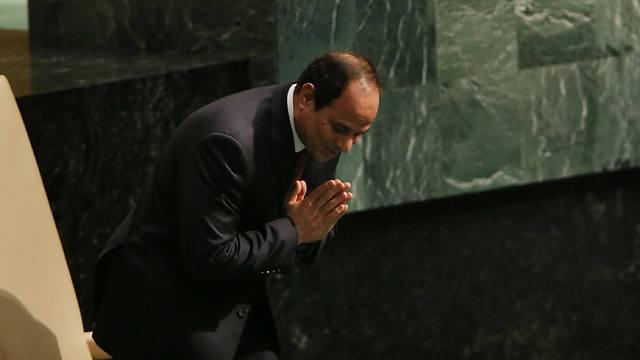 Al-Sisi at the UN. (Photo: AFP)