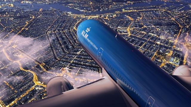 מטוס KLM בשמי אמסטרדם. פסק דין תקדימי (צילום: KLM)