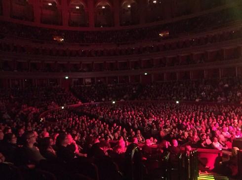 בכורה בלונדון וכבר באלברט הול. נינט בערב הראשון מול הקהל הבריטי (צילום: יוסי מזרחי) (צילום: יוסי מזרחי)