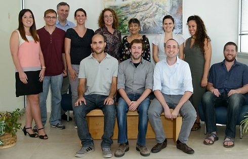 The team of students from Ben-Gurion University (Photo: Danny Michlis)