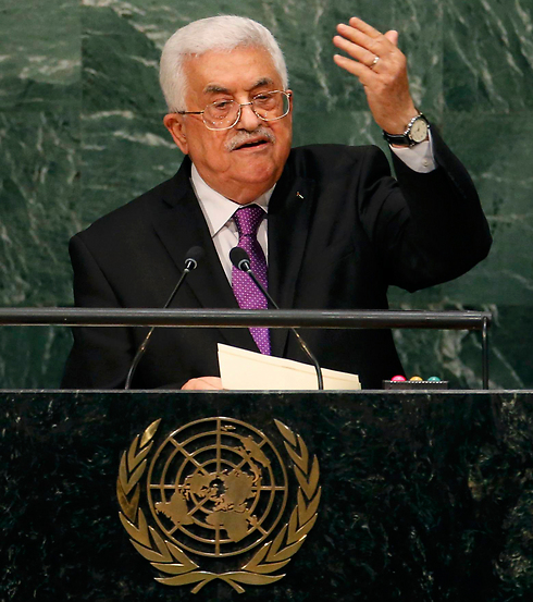 "Abbas at the UN. ""The Israeli occupation is destroying the climate in Palestine."" (Photo: Reuters)"
