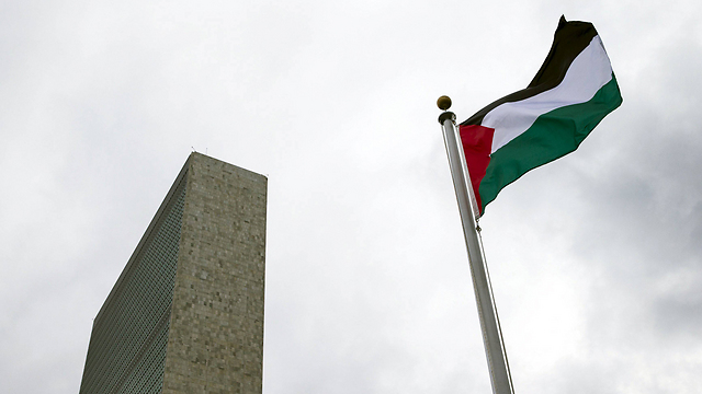 Palestinian flag at UN headquarters in New York    (Photo: Reuters)