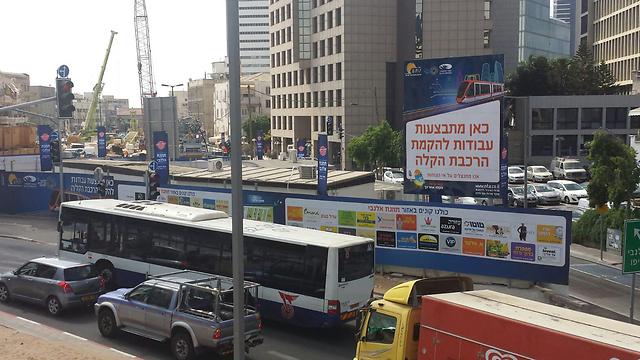 עבודות הרכבת הקלה בתל אביב (צילום: אבי חי) (צילום: אבי חי)
