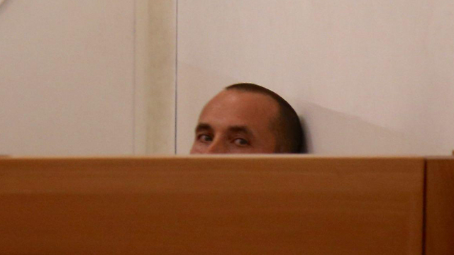 מולנר, היום במהלך דיון הארכת המעצר בבית המשפט  (צילום: מוטי קמחי) (צילום: מוטי קמחי)