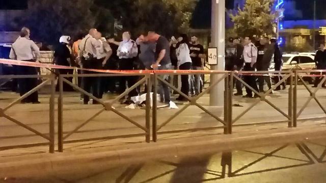 Scene of the stabbing overnight