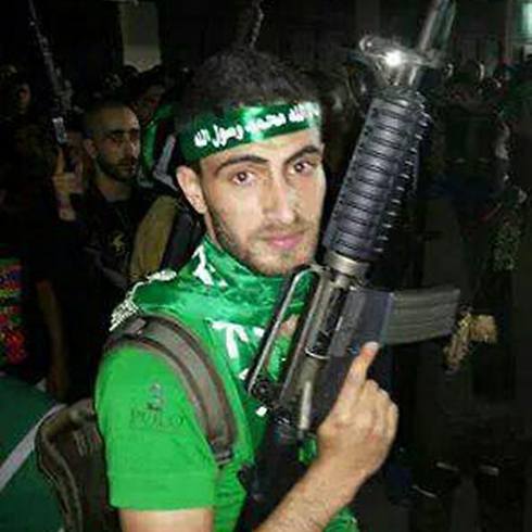 צרו על ביתו. פעיל חמאס קייס סעדי ()
