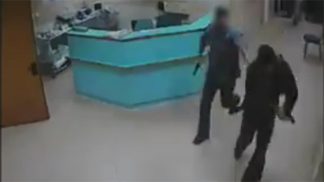 Undercover security agents in the hospital in Nablus.