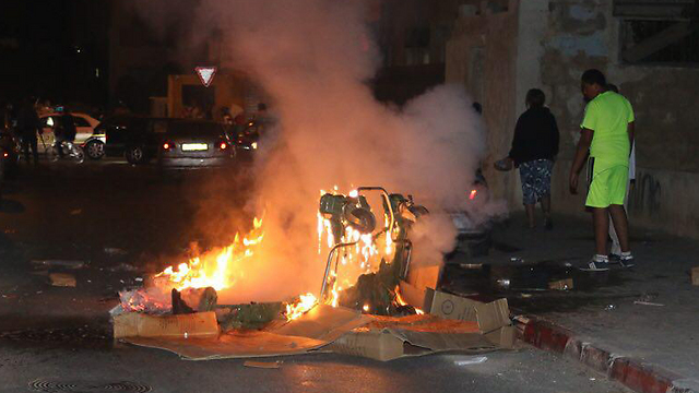 Violence in Jaffa. (Photo: Yafa48)