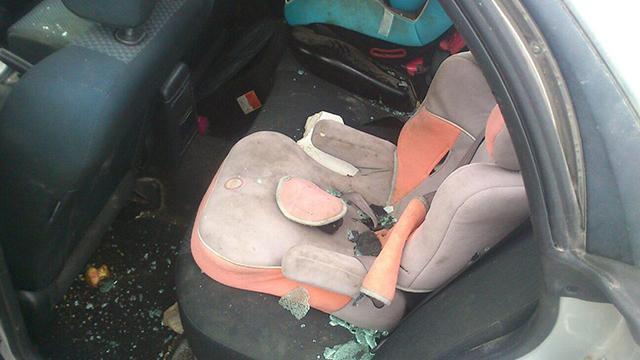 Ohayun's car after the attack (Photo: Tekoa Security)