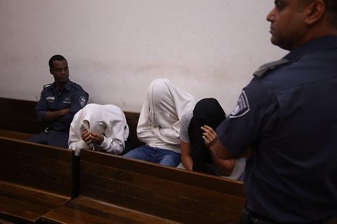 חברי הארגון בבית המשפט (צילום: מוטי קמחי) (צילום: מוטי קמחי)