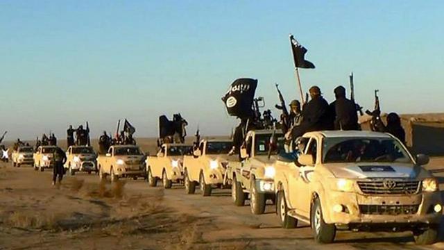 יצרו רצף טריטוריאלי בין עיראק לסוריה. לוחמי דאעש בסוריה (צילום: AP) (צילום: AP)
