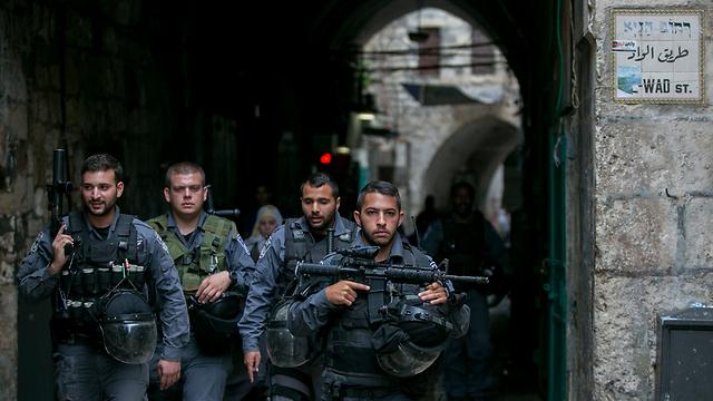 Border Policemen patrolling in Jerusalem (Photo: Ohad Zwigenberg)