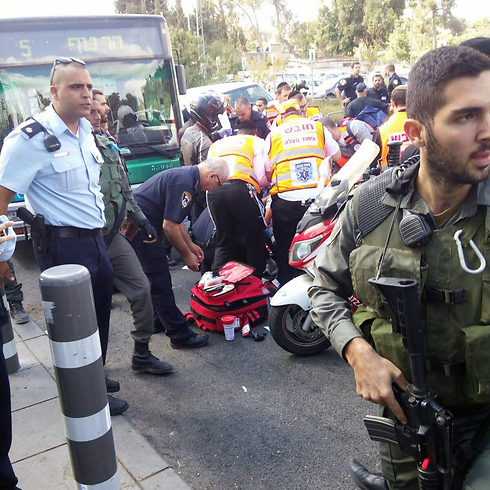 Site of stabbing attack in Jerusalem