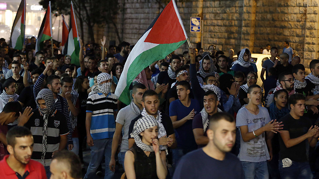 Protests in Nazareth (Photo: AFP)