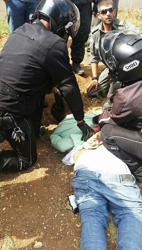 The attacker in Jerusalem. (Photo: Magen David Adom)