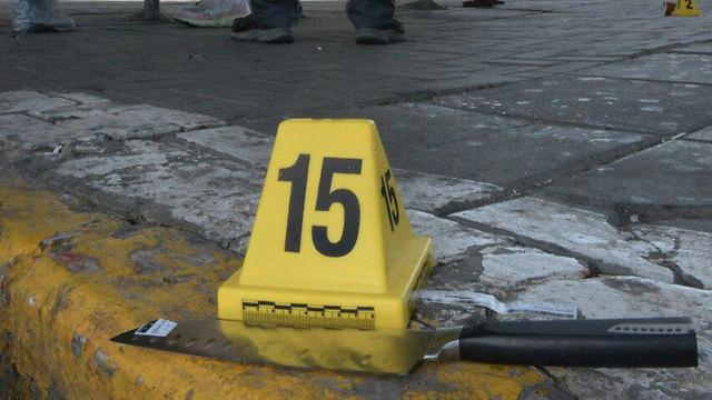 הסכין שעמה ניסתה המחבלת לדקור את החייל (צילום: חטיבת דובר המשטרה) (צילום: חטיבת דובר המשטרה)