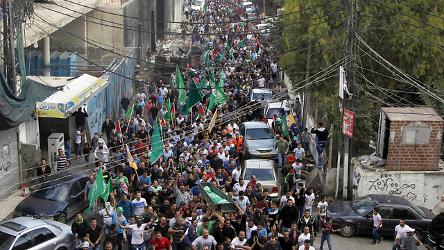 Funeral in Shuafat that led to rioting (Photo: AP)