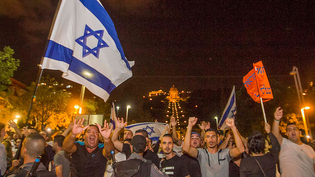 Right-wing protest. The Israeli public is willing to make painful concessions, and that's the Right's greatest fear (Archive photo: Ido Erez)