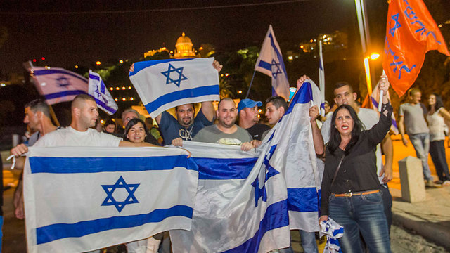 Israel's right has always been better at protesting than the left. (Photo: Ido Erez)