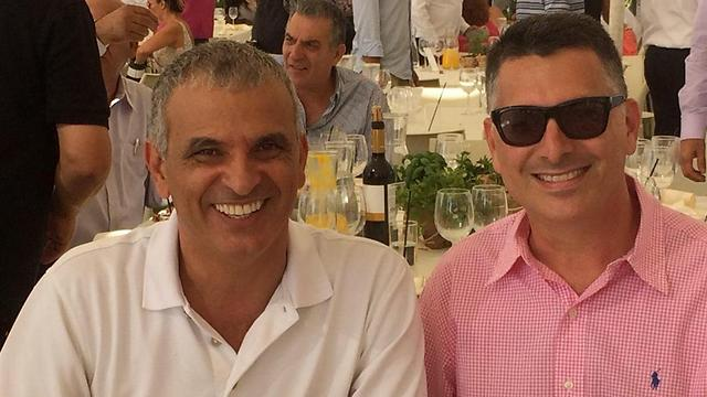 Joining forces would give Kahlon, left, and Sa'ar, right, 12 seats.
