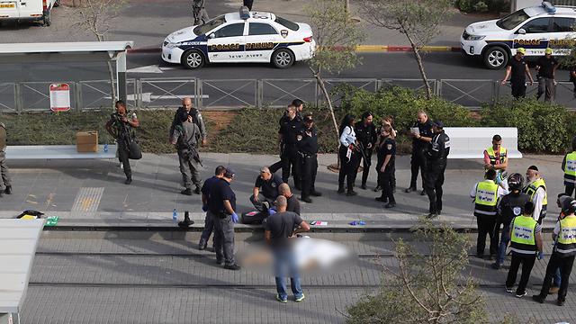 A 13-year-old boy was critically wounded in Pisgat Zeev, in northeast Jerusalem (Gil Yohanan)