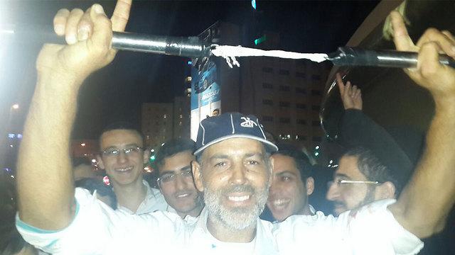 Yair Ben Shabat displays his nunchucks
