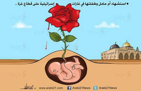 קריקטורה פלסטינית נגד ישראל ()