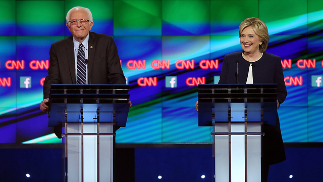 Sanders and Clinton.  The Jewish people should remember that political visibility has rarely been beneficial for Diaspora Jewry (Photo: AFP)