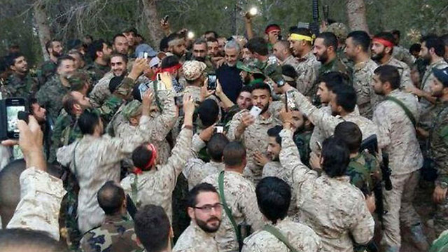 Commander of IRGC's Quds Force Soleimani touring Syria. Soleimani is presiding over the creation of a land corridor from Tehran to Lebanon