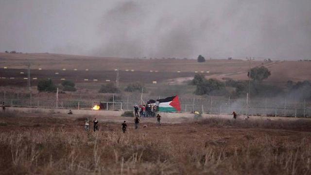 עימותים בגבול הרצועה, אתמול אחר הצהריים ()