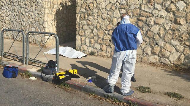 זירת ניסיון הפיגוע בירושלים (צילום: חטיבת דובר המשטרה) (צילום: חטיבת דובר המשטרה)